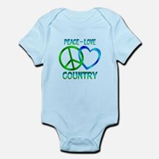 Peace Love Country Infant Bodysuit