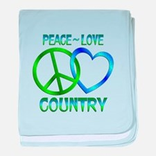 Peace Love Country baby blanket