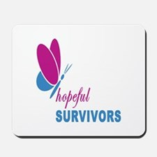 Hopeful Survivors Butterfly With Writing Mousepad