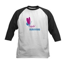Hopeful Survivors Butterfly With Writing Tee