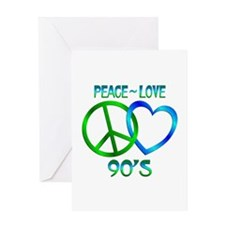 Peace Love 90's Greeting Card