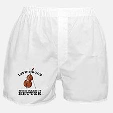 Music Makes Life Better Boxer Shorts