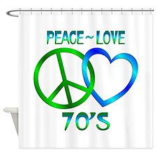Peace Love 70's Shower Curtain