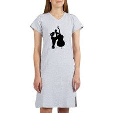 Man With Double Bass Women's Nightshirt