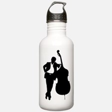 Man With Double Bass Water Bottle