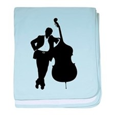 Man With Double Bass baby blanket