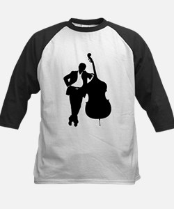 Man With Double Bass Kids Baseball Jersey