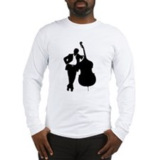 Man With Double Bass Long Sleeve T-Shirt
