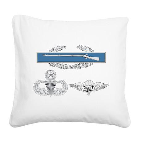 CIB Airborne Master Rigger Square Canvas Pillow