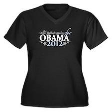 Half of America for Obama 2012 Women's Plus Size V
