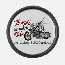 To Ride or Not to Ride Large Wall Clock