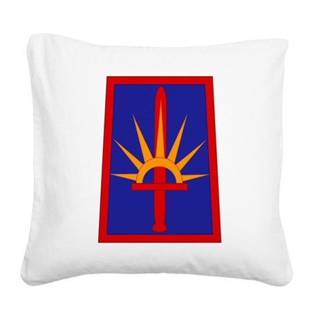 NY National Guard Square Canvas Pillow
