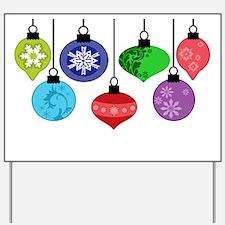 Christmas Ornaments Yard Sign