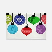 Christmas Ornaments Rectangle Magnet (100 pack)