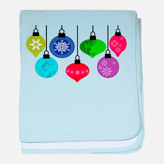 Christmas Ornaments baby blanket