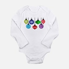 Christmas Ornaments Long Sleeve Infant Bodysuit