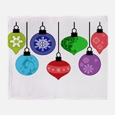 Christmas Ornaments Throw Blanket