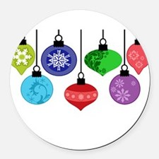 Christmas Ornaments Round Car Magnet