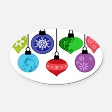Christmas Ornaments Oval Car Magnet
