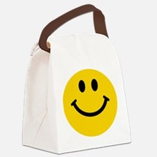 Yellow Smiley Face Canvas Lunch Bag