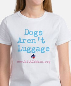 Dogs Arent Luggage Ladies V-Neck T-Shirt