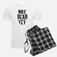 NOT DEAD YET stacked pajamas