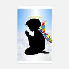 Autism Angel Sticker (Rectangle)
