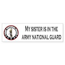 Bumper Sticker: Sister In National Guard