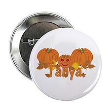 """Halloween Pumpkin Tanya 2.25"""" Button"""
