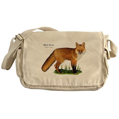 Red Fox Messenger Bag