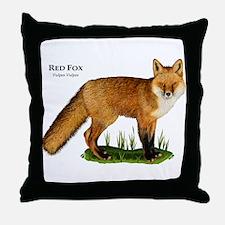 Red Fox Throw Pillow