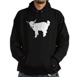 Baby goat white Hoodie (dark)