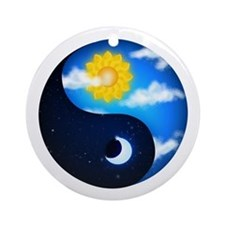 Day Night Yin Yang Ornament (Round)