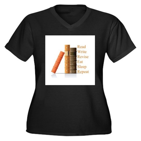 How to be a writer Women's Plus Size V-Neck Dark T