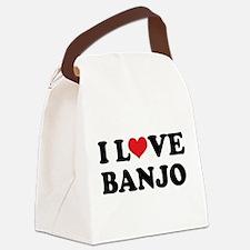 I Love Banjo Canvas Lunch Bag