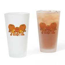 Halloween Pumpkin Valeria Drinking Glass