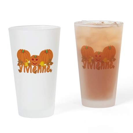 Halloween Pumpkin Vivienne Drinking Glass