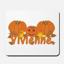 Halloween Pumpkin Vivienne Mousepad