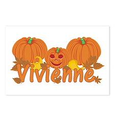 Halloween Pumpkin Vivienne Postcards (Package of 8