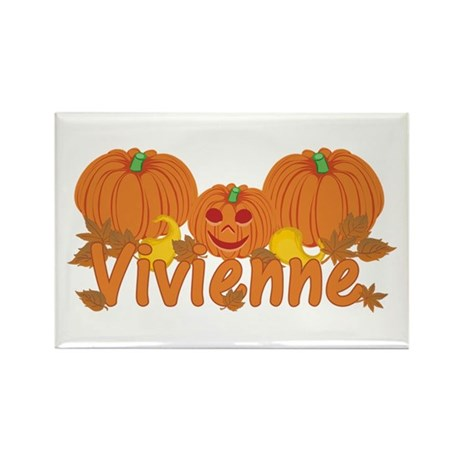 Halloween Pumpkin Vivienne Rectangle Magnet