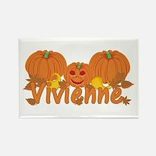 Halloween Pumpkin Vivienne Rectangle Magnet