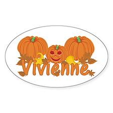 Halloween Pumpkin Vivienne Decal