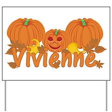 Halloween Pumpkin Vivienne Yard Sign
