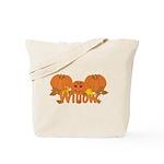 Halloween Pumpkin Willow Tote Bag