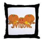 Halloween Pumpkin Willow Throw Pillow