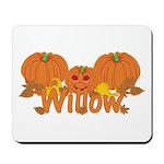 Halloween Pumpkin Willow Mousepad