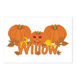 Halloween Pumpkin Willow Postcards (Package of 8)