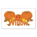 Halloween Pumpkin Willow Sticker (Rectangle)