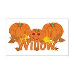 Halloween Pumpkin Willow 20x12 Wall Decal
