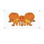 Halloween Pumpkin Willow Banner